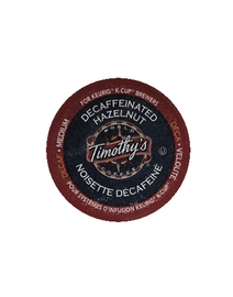 Decaffeinated Hazelnut - Timothy's - Decaf